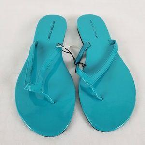 NY & Co. Sz 9 Flip Flop Slip On Sandals Blue Hue